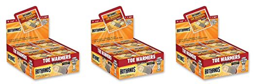 Amazon.com : HotHands Toe Warmers - Long Lasting Safe Natural Odorless Air Activated Warmers - Up to 8 Hours of Heat - 40 Pair : Sports & Outdoors