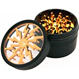 Chromium Crusher 2.5 Inch 4 Piece Tobacco Spice Herb Grinder -Gold
