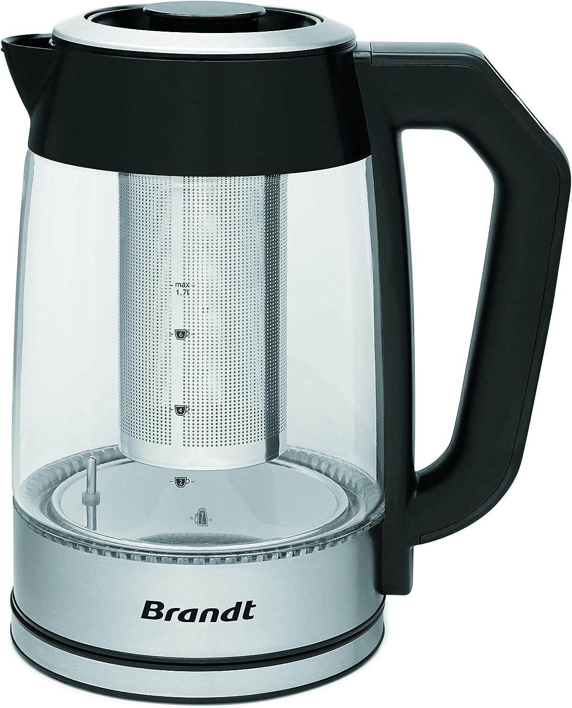 Brandt TH1700EV - Tetera programable (1,7 L, 2200 W, regulador de ...