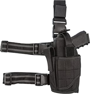 product image for CCW Tactical Leg Holster Wrap Around Thigh Design for Men and Women with Fully Adjustable and Removable Belt Hanger Strap, Black