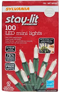 sylvania stay lit platinum led indooroutdoor christmas string lights various colors - Ecosmart Led Christmas Lights