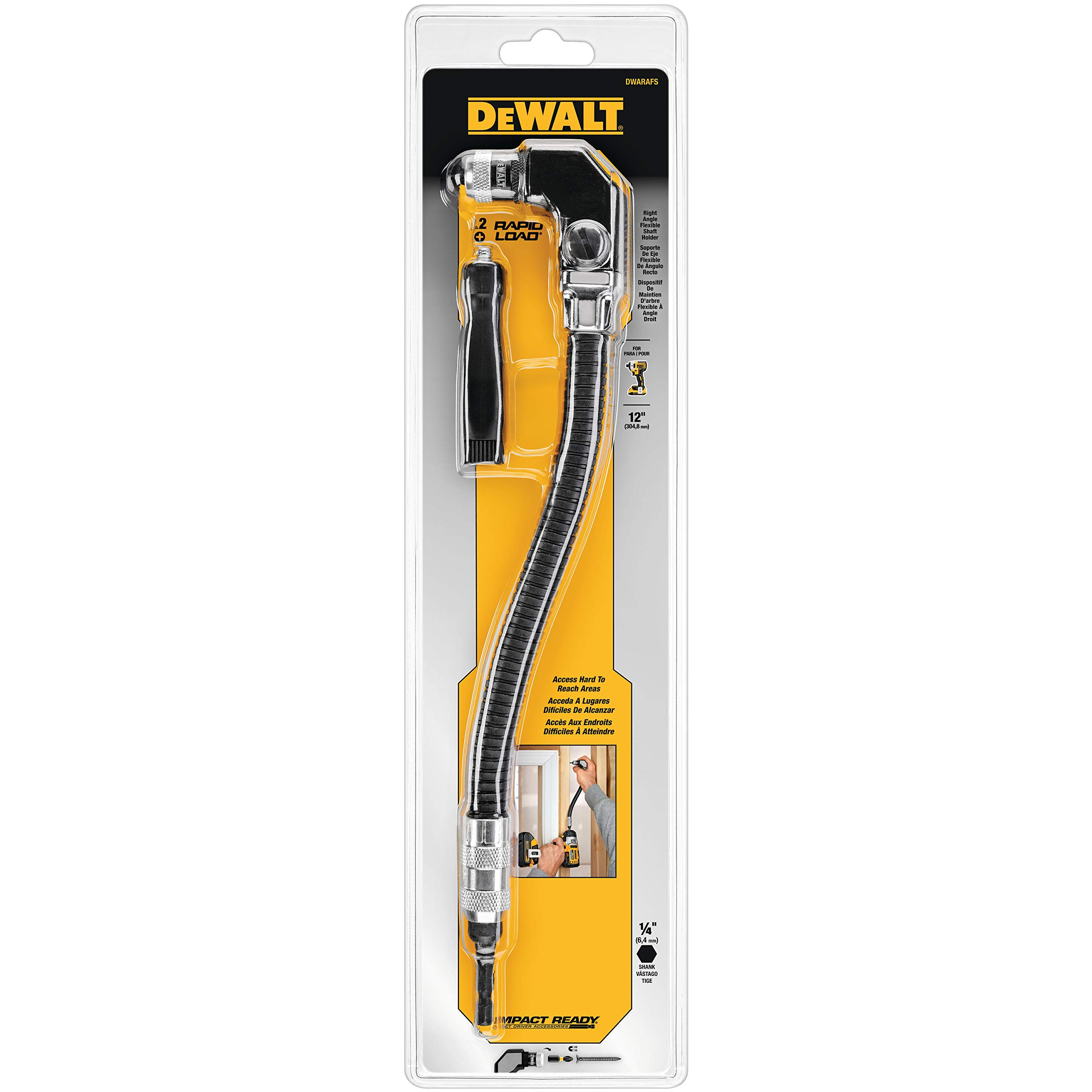DEWALT DWARAFS Right Angle Flex Shaft, 12'' by DEWALT