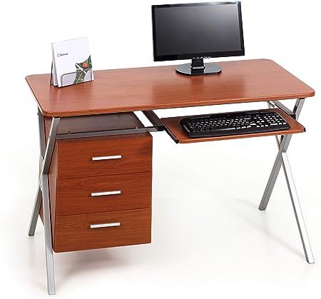 PVC My/_office Folder Scrivania Acero 120x60x76 cm
