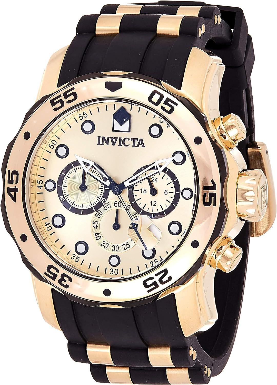 Invicta 17885 Pro Diver Reloj para Hombre acero inoxidable Cuarzo Esfera oro