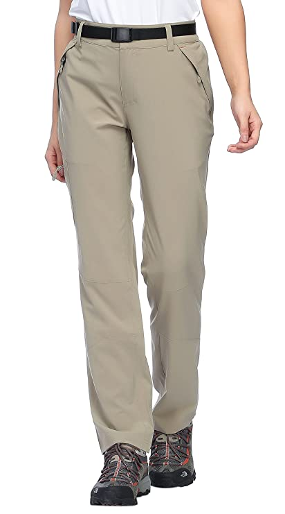 3c17494a8a798 MIER Women s Outdoor Cargo Pants Lightweight Stretchy Hiking Pants with  Large Zipper Pockets