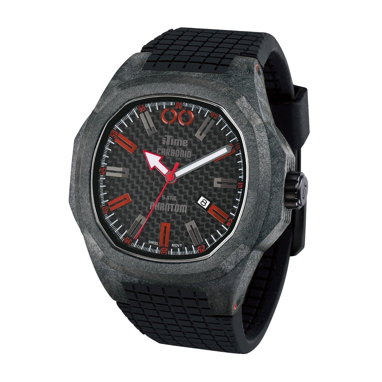 iTime Unisex-Armbanduhr PH4900-C-PH01R Analog silikon schwarz PH4900-C-PH01R