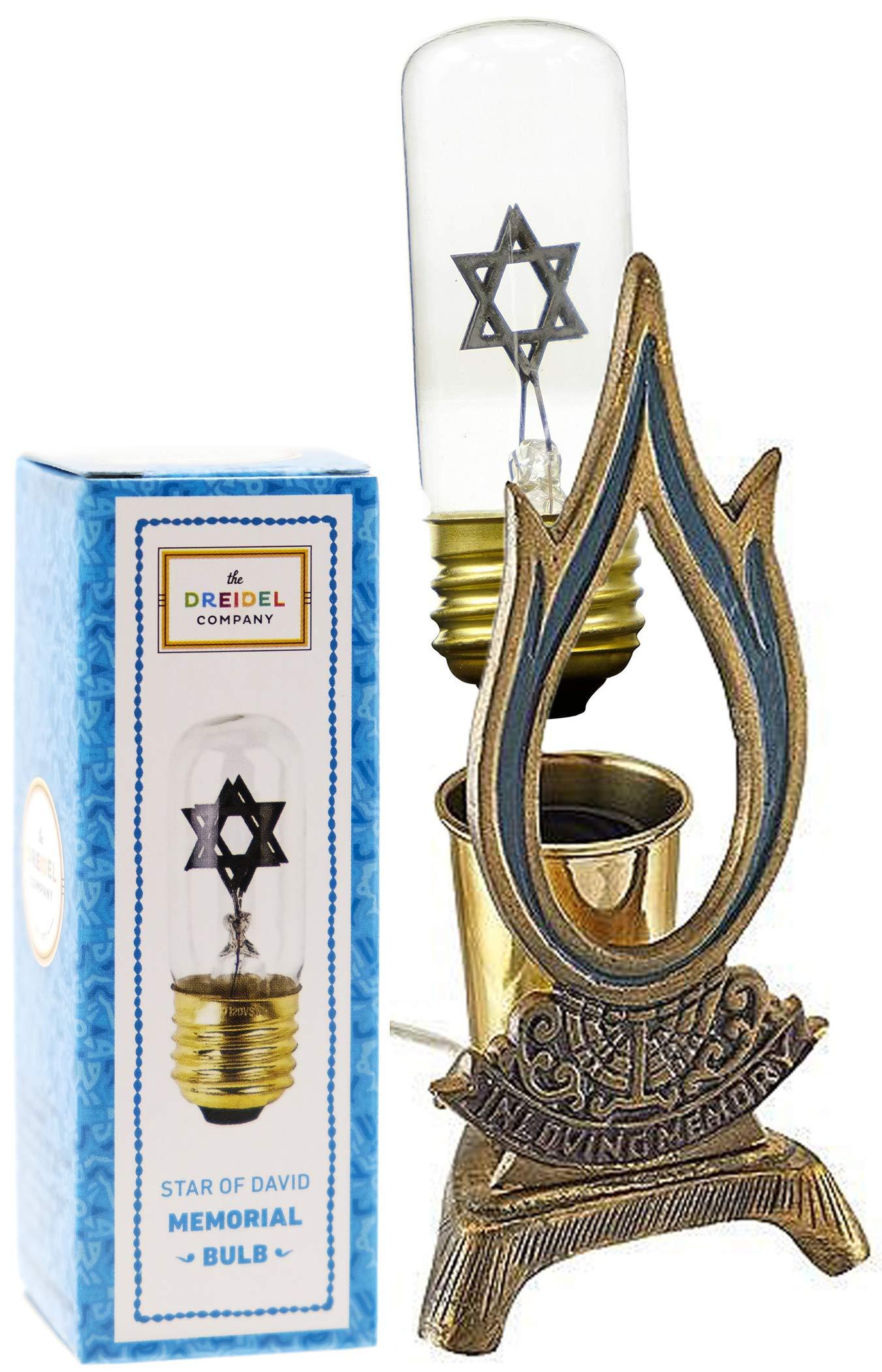 Flame Shaped Electric Memorial Lamp - Yahrzeit by The Dreidel Company