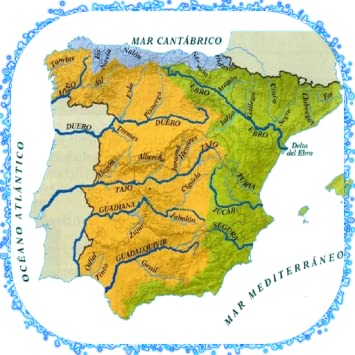 Map Of Spain Rivers.Amazon Com Rivers Of Spain Appstore For Android