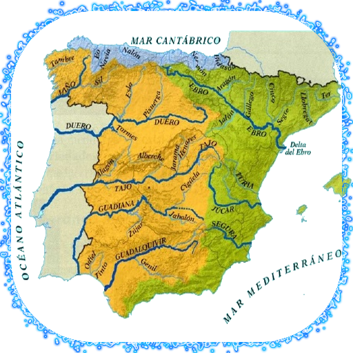 Rio Jarama Mapa Fisico.Amazon Com Rivers Of Spain Appstore For Android