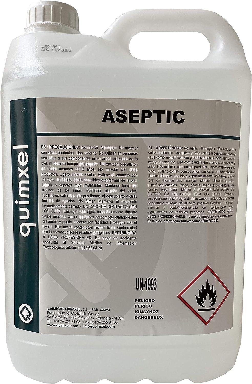 Gel Hidroalcoholico Aséptico Quimxel - 5 Litros: Amazon.es: Salud ...