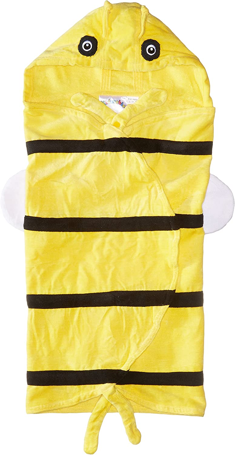 Kidorable Kid's Bee Wing Towel, Yellow, Medium