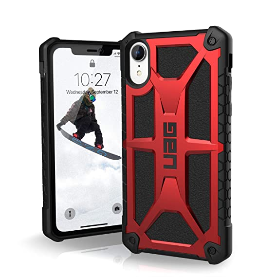 check out c183f 6096c URBAN ARMOR GEAR UAG iPhone XR [6.1-inch Screen] Monarch Feather-Light  Rugged [Crimson] Military Drop Tested iPhone Case