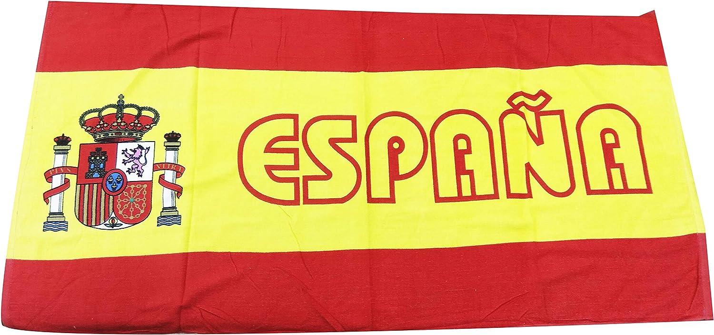 VAVCI Toalla Playa Bandera de España 100% algodón: Amazon.es: Hogar