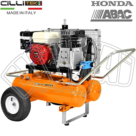 motocompressore 5,5hp 22 + 22lt Motor Honda GX 160 Gasolina Compresor Aire