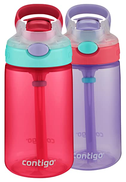 79438d2a28 Amazon.com: Contigo AUTOSPOUT Straw Gizmo Flip Kid Water Bottles, 14oz,  Cherry Blossom/Wisteria, 2-Pack: Kitchen & Dining