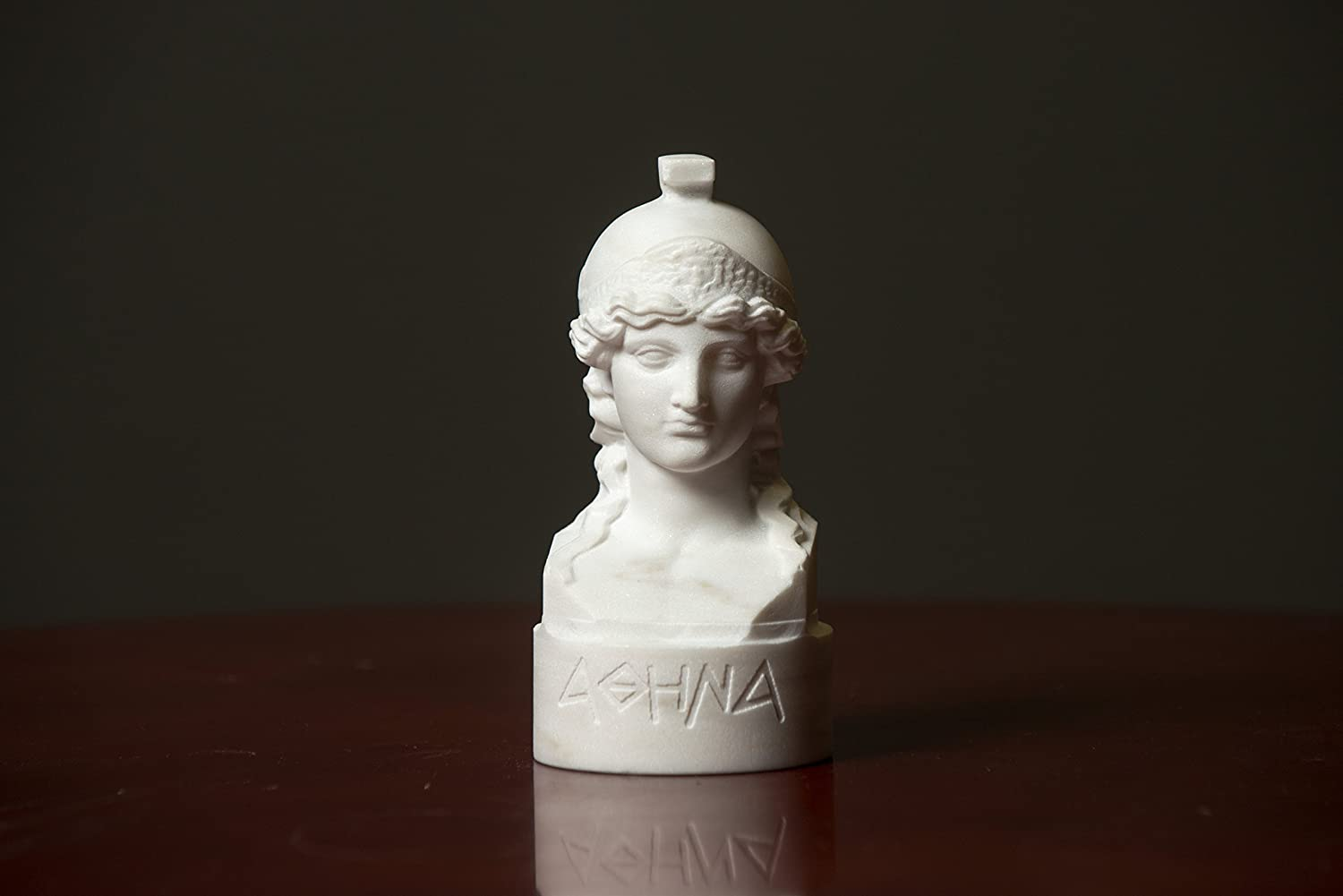 Bust of Olympian Goddess Athena Carved Greek Marble Statue Artist Sculpture