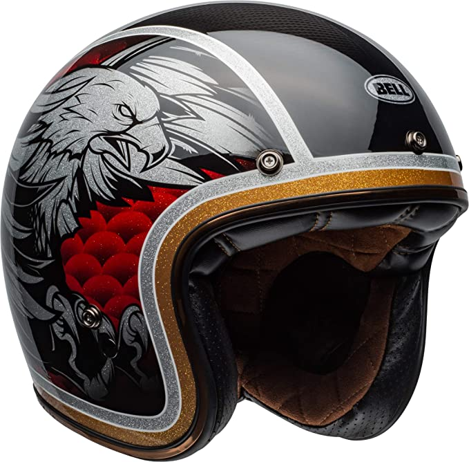 Amazon.com: Bell Custom 500 - Casco de motocicleta de carbón ...