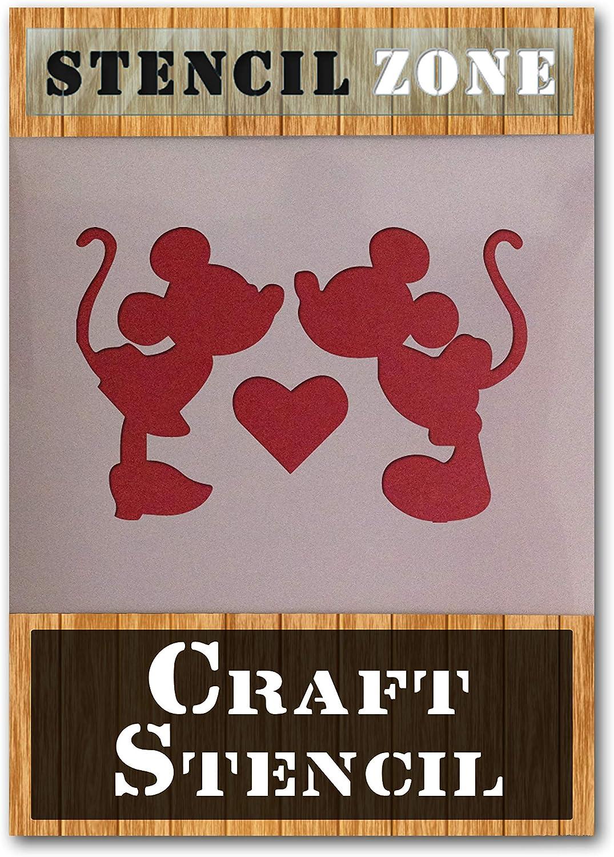 Mickey Mini Mouse KISS Mylar AirRush Malerei Wand-Deko Stencil