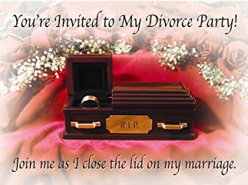 Amazoncom Divorce Party Invitations Health Personal Care