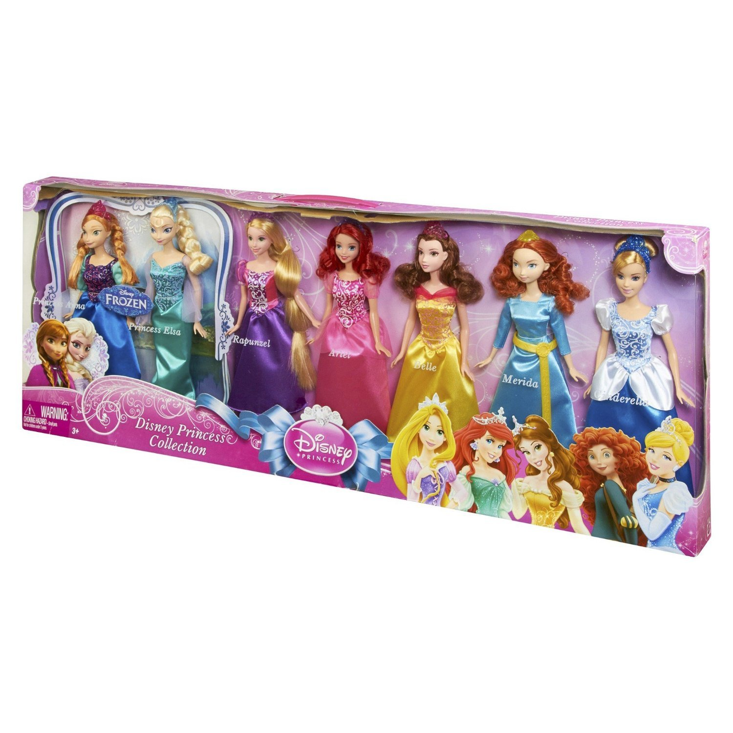 amazoncom disney princess royal doll collection 7 pack toys games
