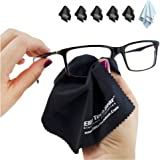 """EliteTechGear Most Amazing Microfiber Cleaning Cloths (6 Pack). Perfect For Cleaning Eyeglasses, All LCD Screens, Tablets & Other Delicate Surfaces (5 Large 6x7"""" & 1 OVERSIZED 12x12"""").."""