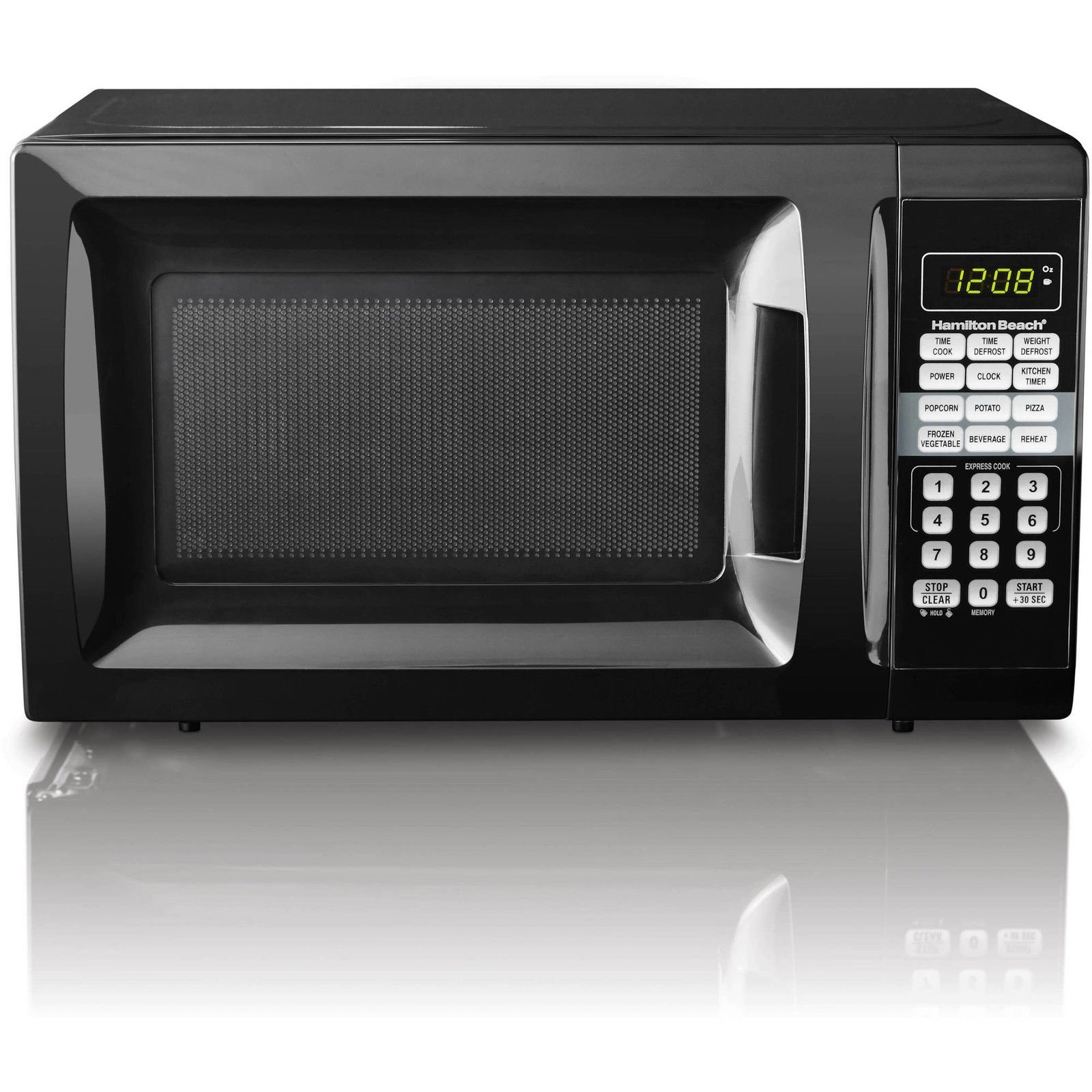 Microwave oven 0.7 CU FT 700W black Mainstays EM720CGAB express cooking Touch pad control (Certified Refurbished)