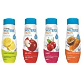 SodaStream Fruits Mixed Pack with Cloudy :Lemonade, Red Apple, Cherry and Passion-Mango Sparkling Water Drink Mix