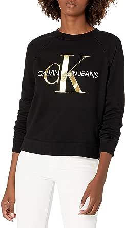 CALVIN KLEIN Women's Drop Shoulder Monogram Logo Sweater