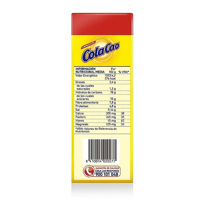 ColaCao Original Preparado Alimenticio al Cacao - Pack de 6 x 18 g - Total: 108 g: Amazon.es: Amazon Pantry