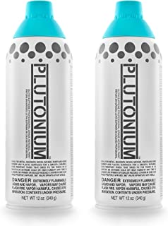 product image for Plutonium Paint Ultra Supreme Professional Grade Aerosol Spray Paint, 12-Ounce, Tsunami Blue (2 Pack)