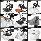 """VViViD 10"""" x 12"""" Flat Garment Heat Press Machine"""