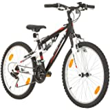 Multibrand, PROBIKE SPEED 24, 24 inch, 330mm, FSP Mountain Bike, 18 speed, Unisex, Mudgard Set, White Matt