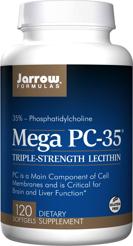 Jarrow Formulas Lecithin Mega-PC 35, Promotes Brain and Liver Function, 120 Softgels (Pack of 2)