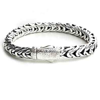 Amazon Com Handwoven Men 925 Sterling Silver Thick Link Bali Style