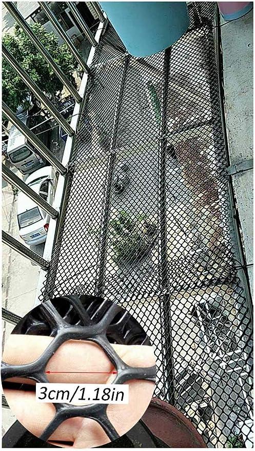 Balcón Escalera Infantil Y La Red De Seguridad Protección Cat Net - Cubierta Al Aire Libre Barandilla De Escalera Net - Seguridad De Los Niños;Seguridad For Mascotas;Escaleras Protector - Negro: Amazon.es: Productos