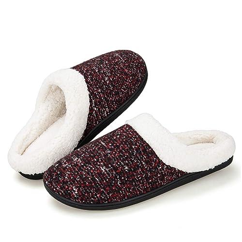 258d2bad0ef Men s Memory Foam House Slippers Soft Sole Anti-Slip Slippers Indoor Shoes  ELMT001-M2