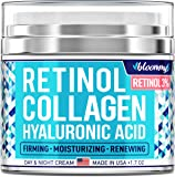 Collagen & Retinol Cream for Face with Hyaluronic Acid - Collagen Anti Aging Cream - Retinol Moisturizer for Face - Made…