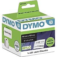 DYMO LW - Etiquetas auténticas de envío/tarjetas de identificación grandes, 54 mm × 101 mm, un rollo de 220 etiquetas…