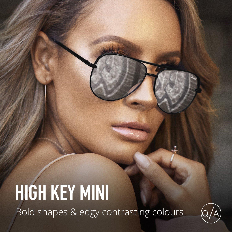 Quay Australia HIGH KEY MINI Men's and Women's Sunglasses Aviator Sunnies - Black/Silver by Quay Australia (Image #4)