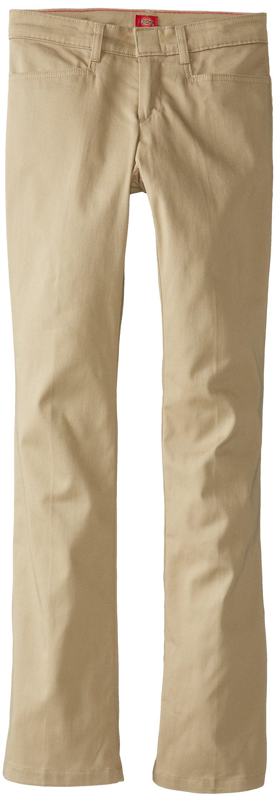 Dickies Juniors Classic Stretch Bootcut Pant, Desert Sand, 5