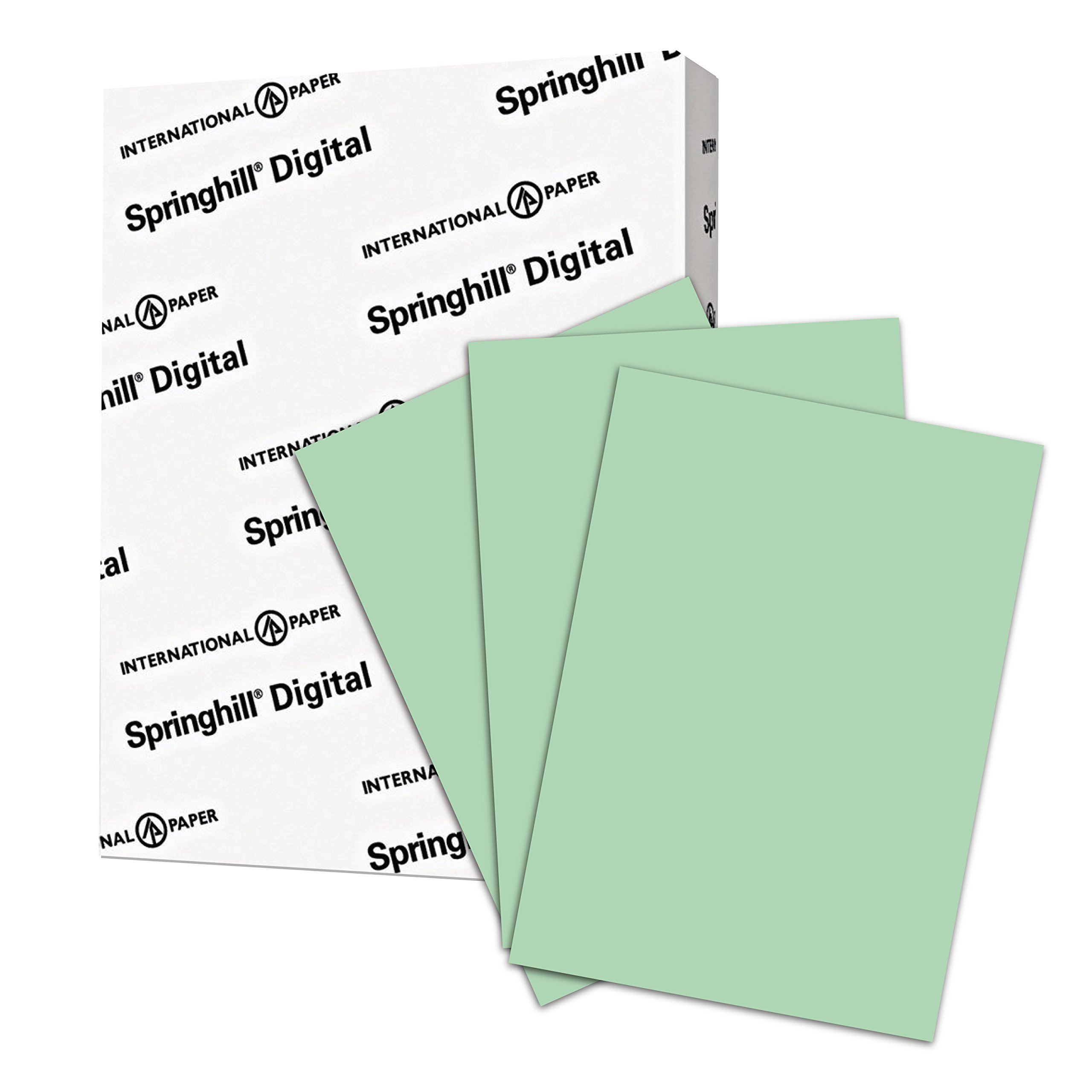 Springhill Colored Paper, Heavy Paper, Green Paper, 28/70lb, 104 gsm, Ledger, 11 x 17, 1 Ream / 500 Sheets - Opaque, Thick Paper (024185R) by Springhill