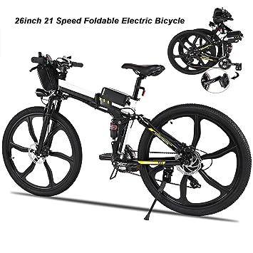AIMADO Bicicletas Electricas de Montaña PLEGABLE, E-bike MTB 250W 30 km/h