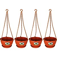 Easy Gardening 8 Inch Hanging Pots/Planters Terracotta Color For Home Balcony