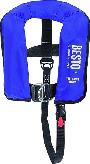 Vollautomatische Rettungsweste BESTO 165N mit Lifebelt 40 kg Weste automatische