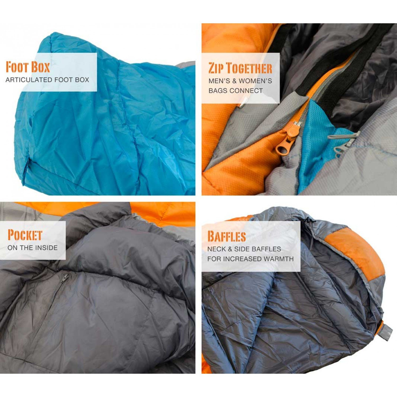 Bear Grylls Sleeping Bag 30F Degree Women – Thermolite Fiber