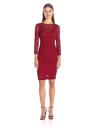 Nicole Miller Illusion Sleeves Evening Dresses