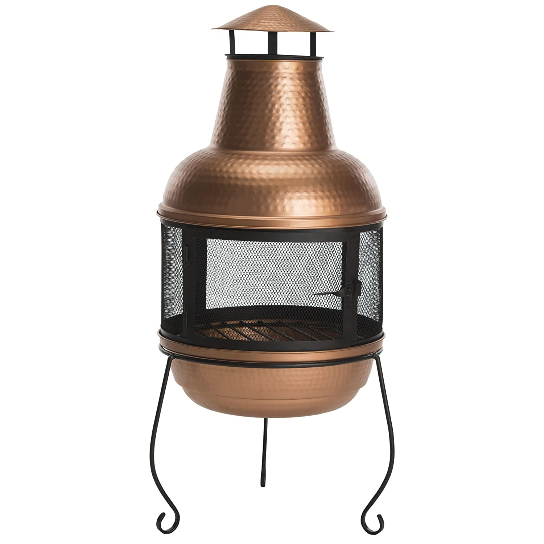 Safavieh PIT1000A Chiminea, Copper/Black