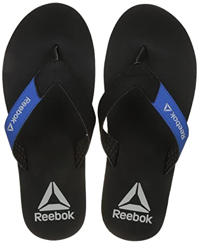 c144355fb Reebok Men s Core Flip Black Awesome Blue Flip - 9 UK India (43 EU) (10  US)  Buy Online at Low Prices in India - Amazon.in
