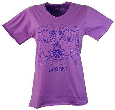 e5f4f5c3dc2f61 Guru-Shop Sternzeichen T-Shirt `Zwillinge`