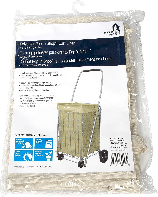 Helping Hand Cart Liner (Linen, Small) - Designed for Pop 'n Shop Cart